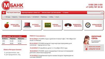 Каталог официальных сайтов банков россии